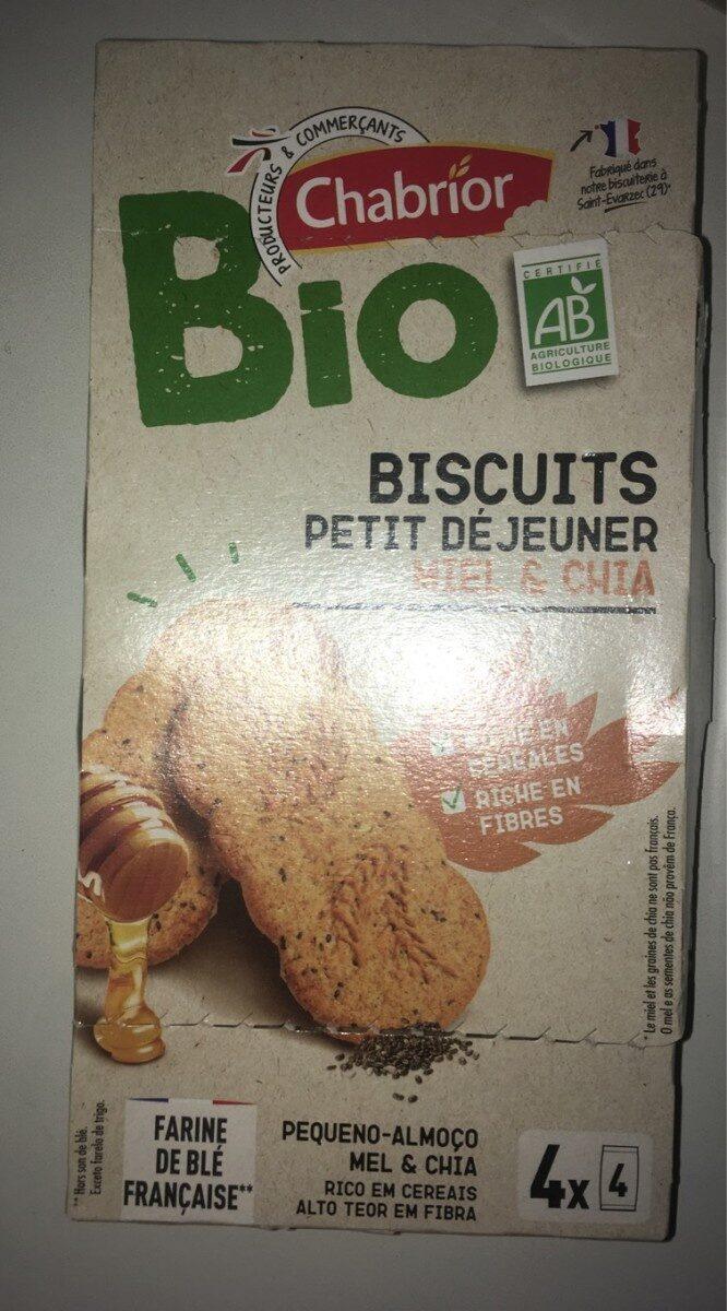 Biscuits petit déjeuner miel et chia - Product