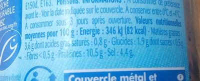Œufs de lompe - Nutrition facts