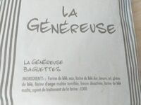 La généreuse baguette - Ingredients - fr