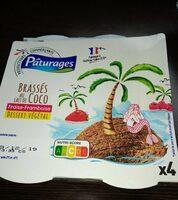 Brassés au lait de coco fraise framboise - Produit - fr
