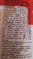 Sandwich poulet rôti oeuf pain nature  Monique Ranou - Ingrédients - fr