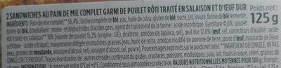 Sandwich poulet oeuf - Ingrediënten - fr