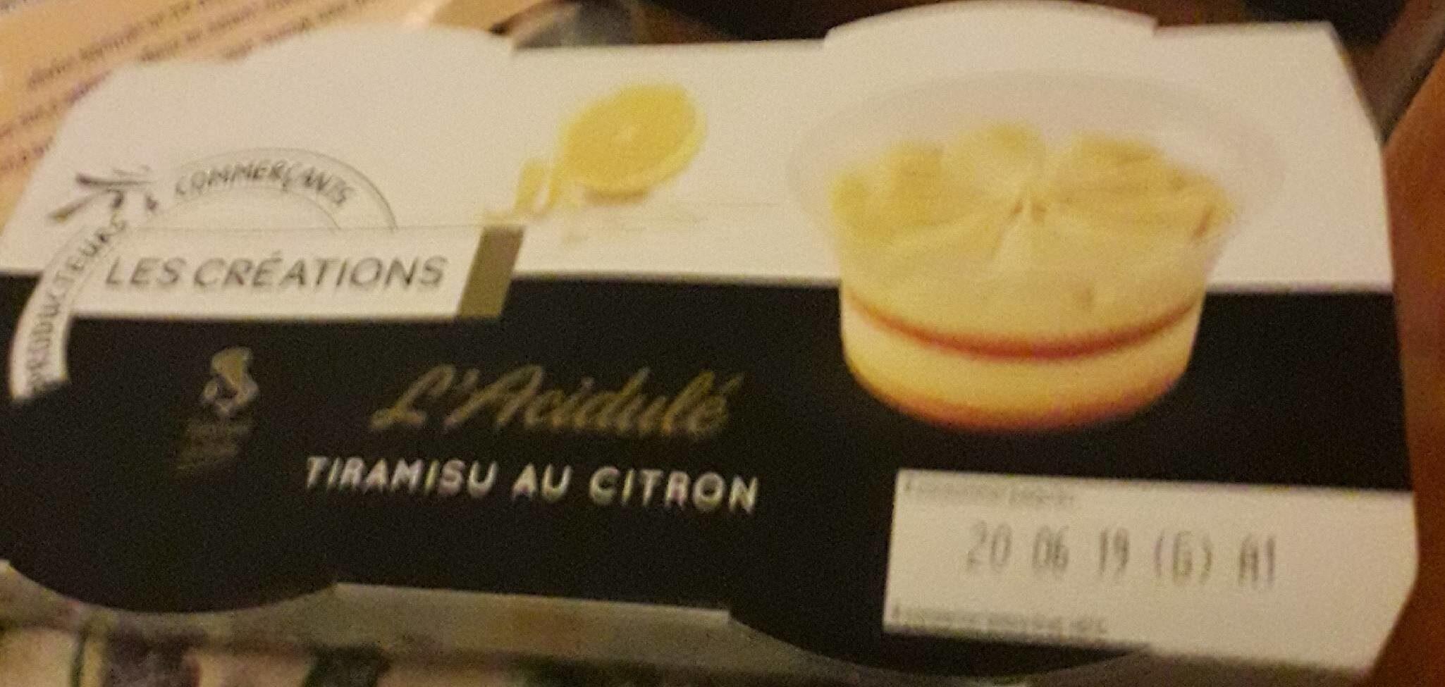Tiramisu au citron  L'acidité  Les Créations - Product