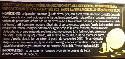 Tiramisu au citron  L'acidité  Les Créations - Ingredients