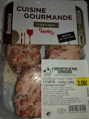 4 crepinettes de porc - Product - fr