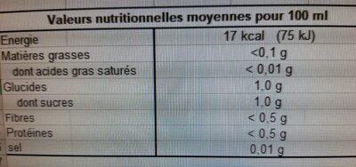 Spécialiste à diluer citron biologique - Voedingswaarden - en