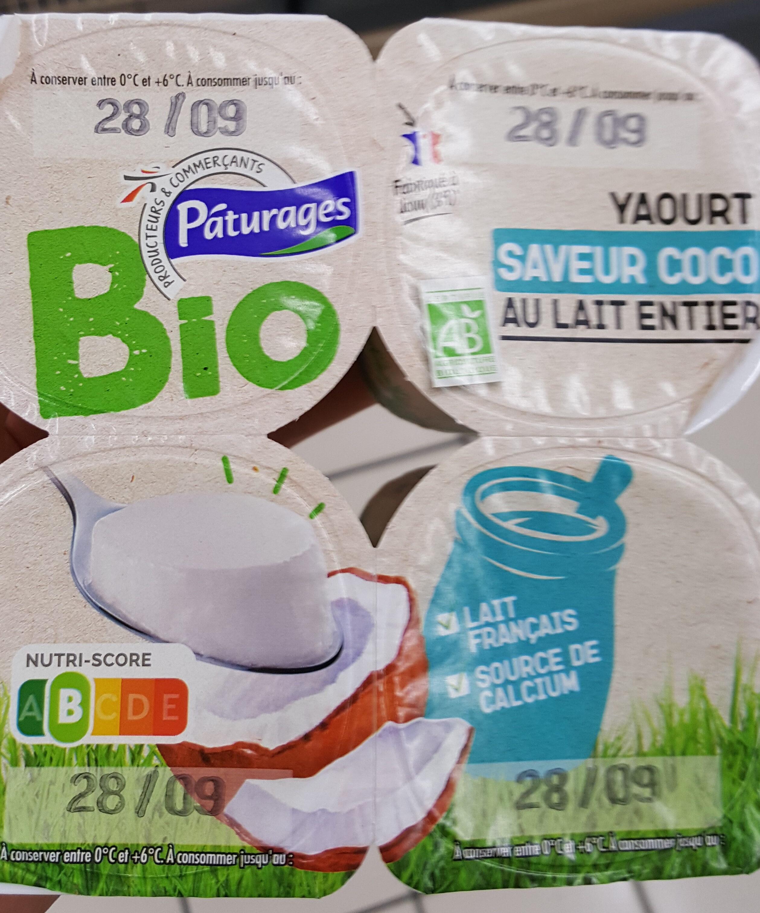 Yaourt bio Au lait entier saveur Coco - Product