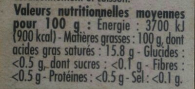 Huile vierge de sésame - Nutrition facts - fr