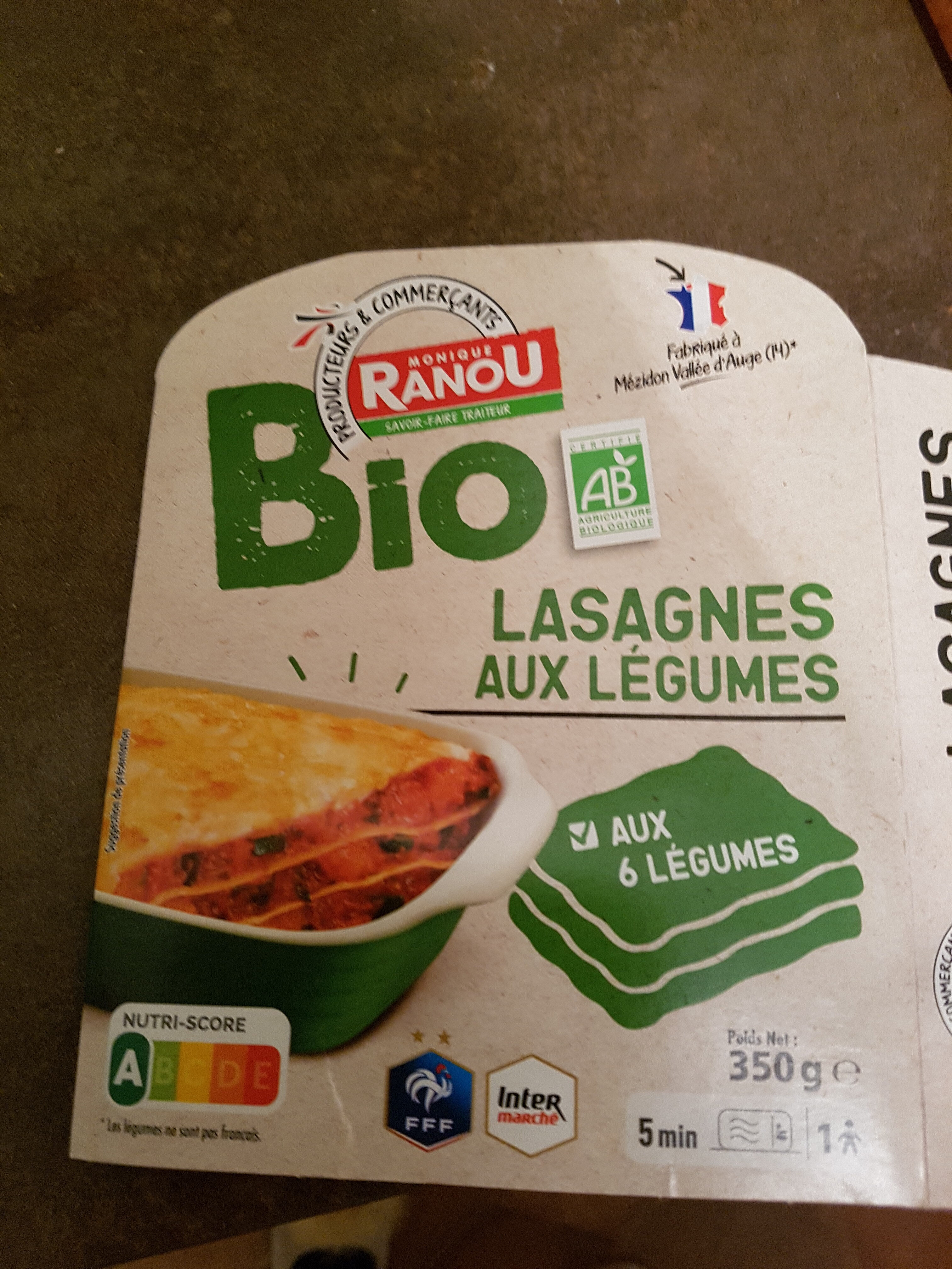 Lasagnes aux légumes - Produit - fr