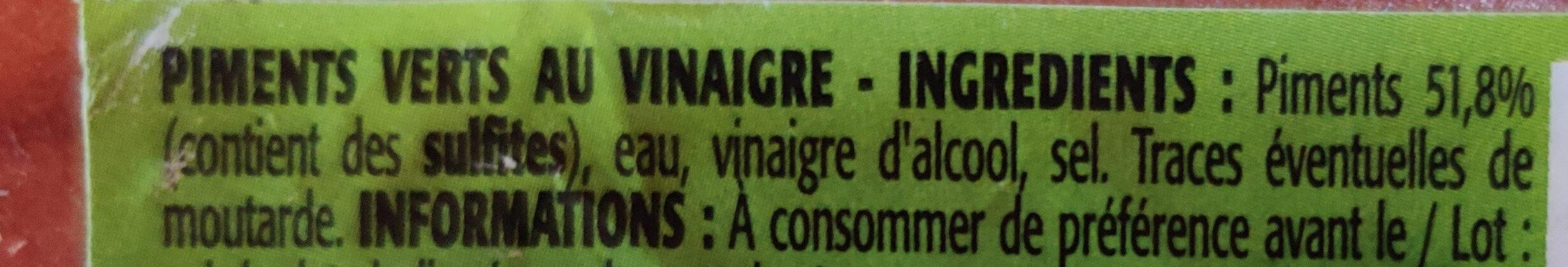 Mini piments verts - Ingrédients - fr