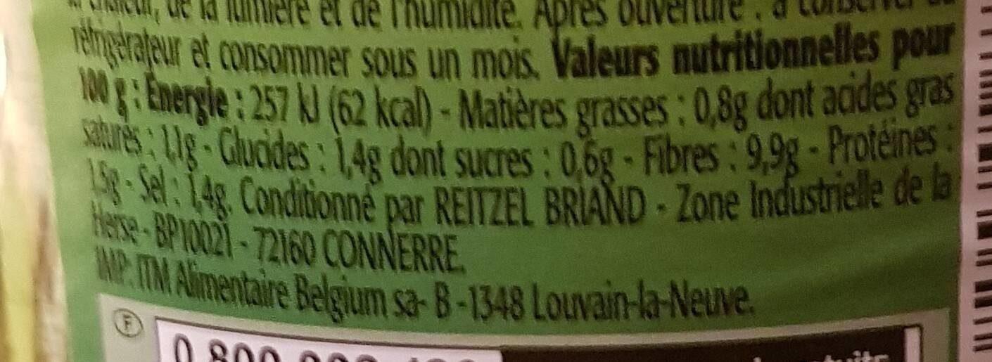 Mini piments verts - Voedingswaarden - fr