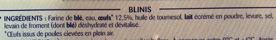 Blinis - Ingrediënten - fr