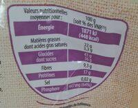 Mélange bien être - Informations nutritionnelles - fr