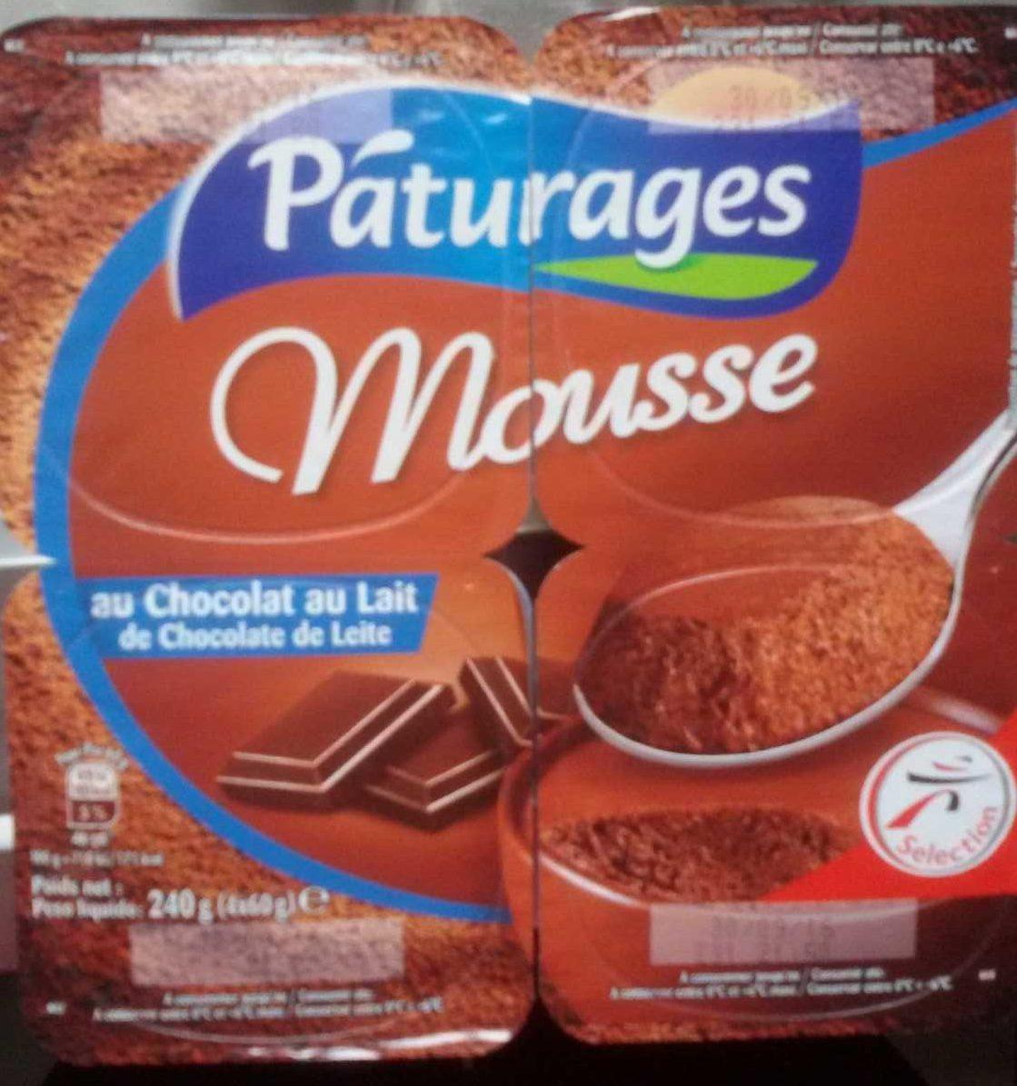 Mousse Au Chocolat Au Lait Paturages 240 G E 4 60 G