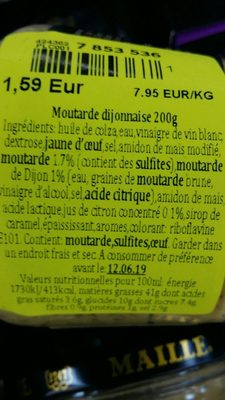 Maille Dijonnaise - Ingredients - fr