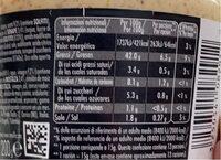 Moutarde - Información nutricional - es