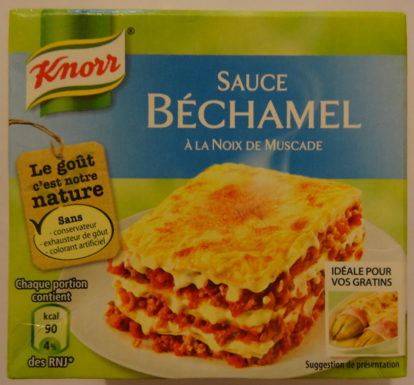 Sauce b chamel la noix de muscade knorr 50 cl for Noix de muscade cuisine