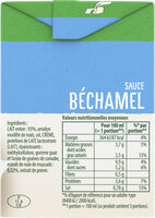 Knorr Sauce Béchamel à la Noix de Muscade Brique 50cl - Informations nutritionnelles - fr