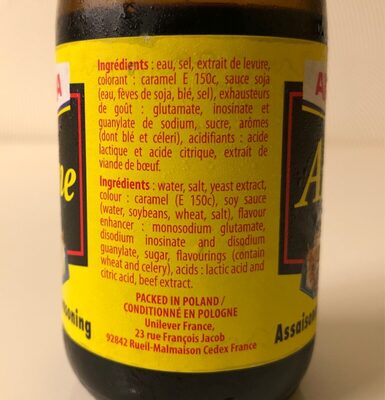 Arôme - Ingrediënten - fr