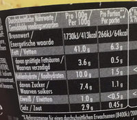 Dijonnaise - Valori nutrizionali - fr