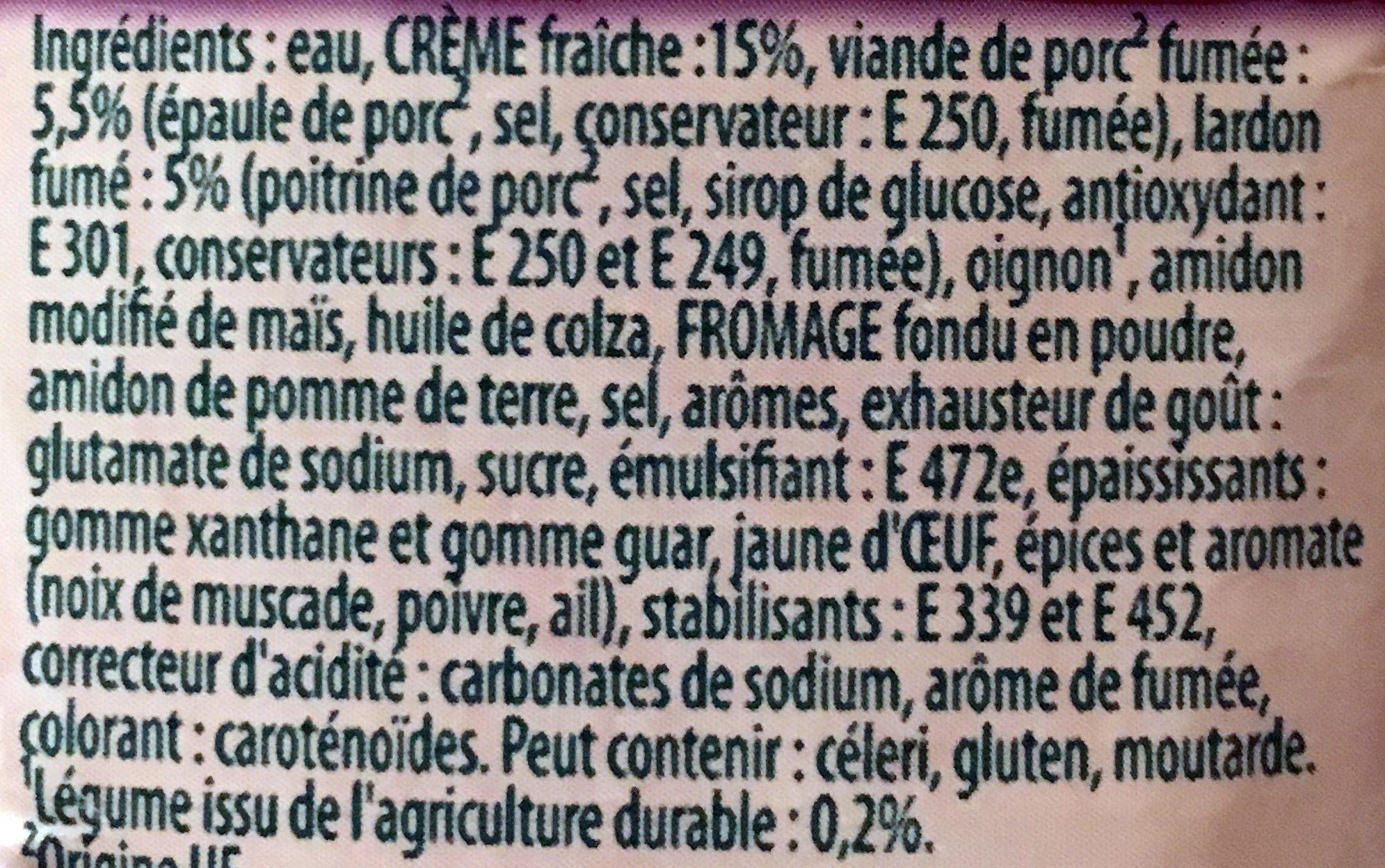 414G Sauce Pate Carbonara Knorr - Ingredients - fr