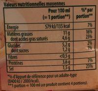 414G Sauce Pate Carbonara Knorr - Nutrition facts - fr