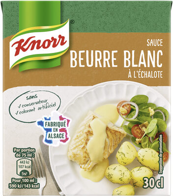 Knorr Sauce Chaude Beurre Blanc à l'Échalote Brique 30cl - Produit - fr