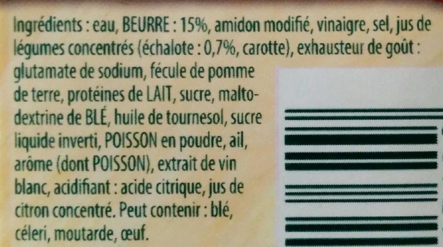 Sauce Beurre Blanc à l'échalote - Ingrediënten