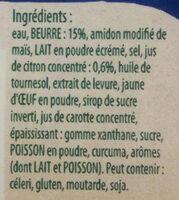 Sauce Hollandaise au Jus de Citron - Ingredients