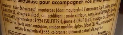 Mayonnaise fin gourmets qualité traiteur - Ingrédients