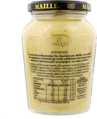 Maille Mayonnaise Fins Gourmets Bocal 320g - Voedingswaarden