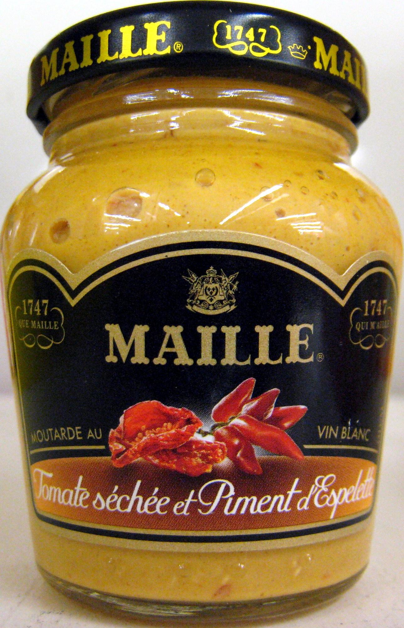 moutarde au vin blanc la tomate s ch e et piment d 39 espelette maille 108 g. Black Bedroom Furniture Sets. Home Design Ideas