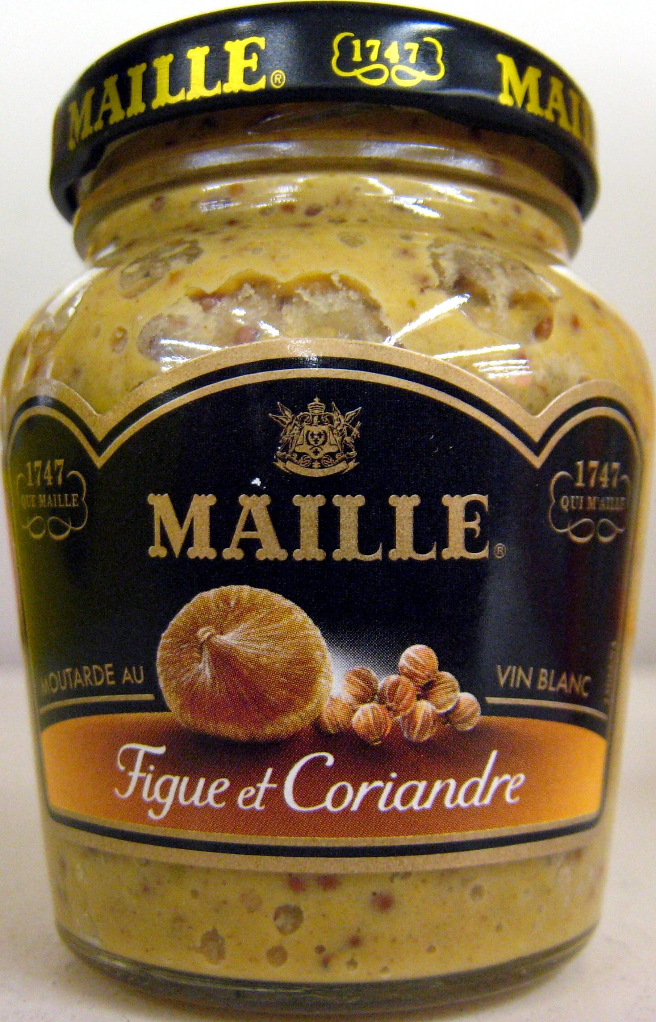 moutarde au vin blanc la figue et la coriandre maille 110 g. Black Bedroom Furniture Sets. Home Design Ideas