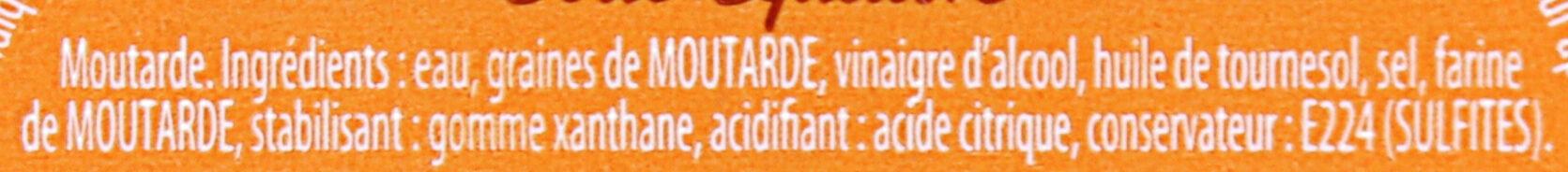 AMORA Moutarde Mi-Forte Bocal - Ingrédients - fr