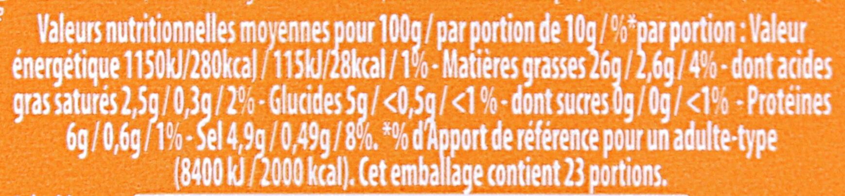 AMORA Moutarde Mi-Forte Bocal - Informations nutritionnelles - fr