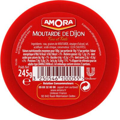 Amora Moutarde Fine et Forte Verre De Table 245g - Informations nutritionnelles - fr