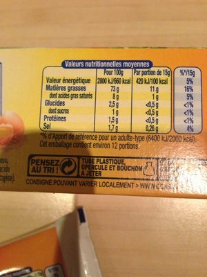 Mayonnaise de Dijon - Informations nutritionnelles - fr