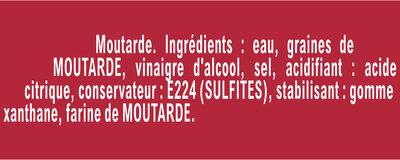 AMORA Moutarde Fine et Forte Flacon Souple - المكونات - fr