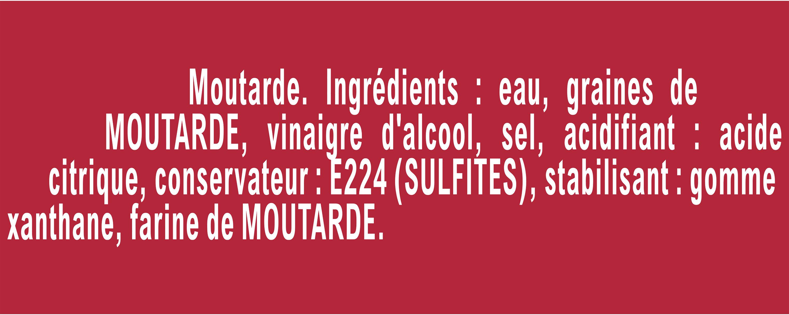 Amora Moutarde de Dijon Fine et Forte Flacon Souple - Inhaltsstoffe - fr