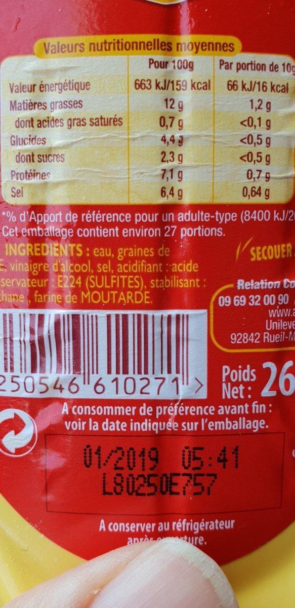 Moutarde fine et forte - Ingredients