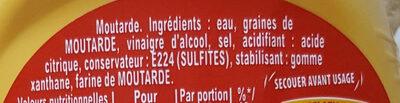 Moutarde fine et forte - Ingrediënten