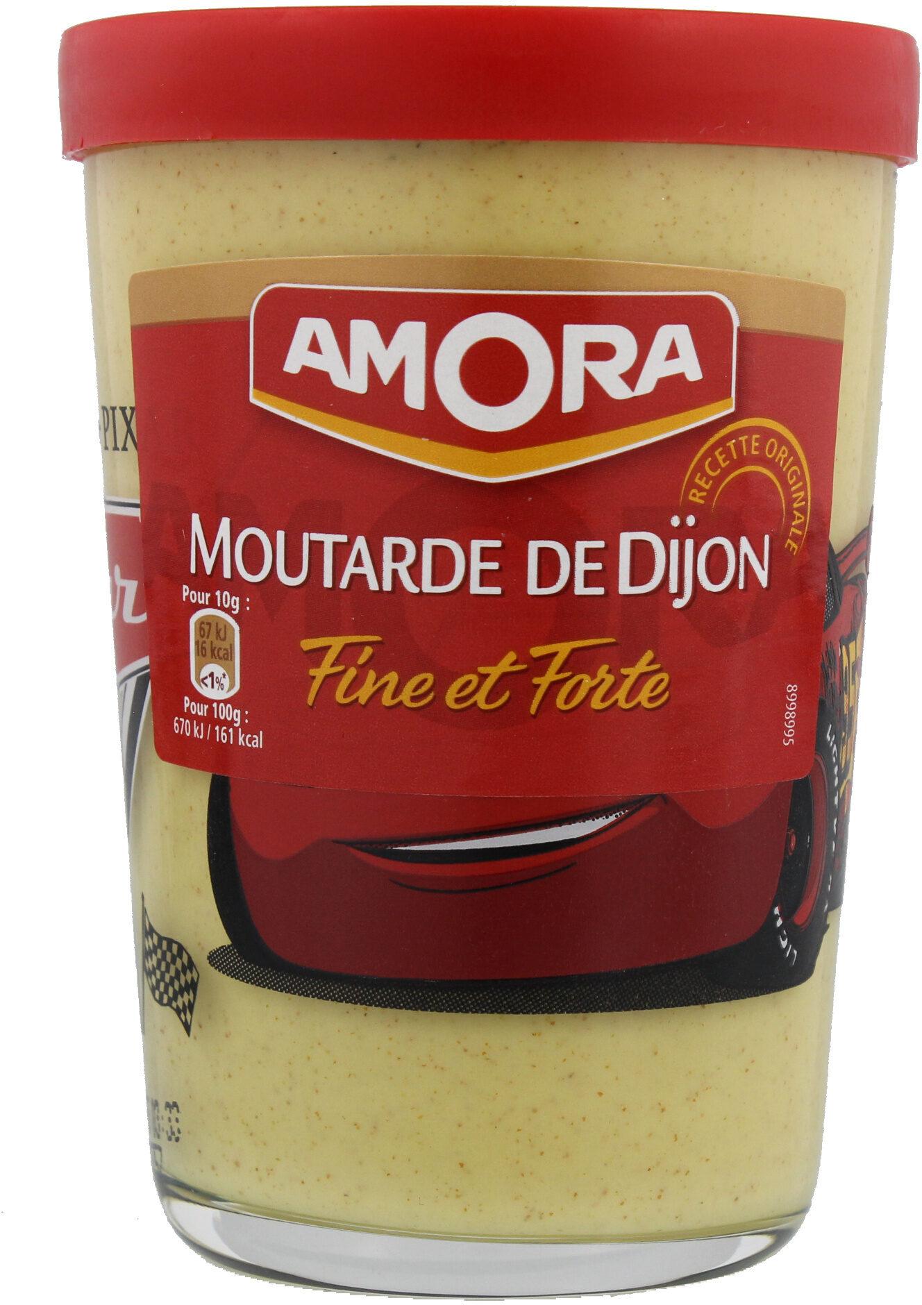 Amora Moutarde de Dijon Fine et Forte Verre Tv 195g - Produit - fr