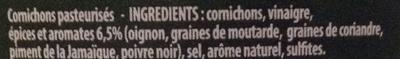 Croq'vert Aux 5 Epices & Aromates - Ingrédients