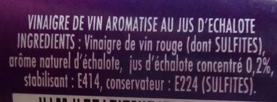 Amora Vinaigre de Vin Rouge à l'Echalote 75cl - Ingredients - fr