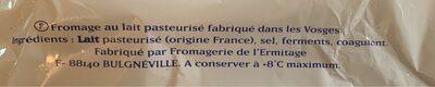 Brie - Ingrédients - fr