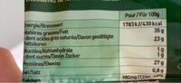Comté Râpé - Informations nutritionnelles - fr