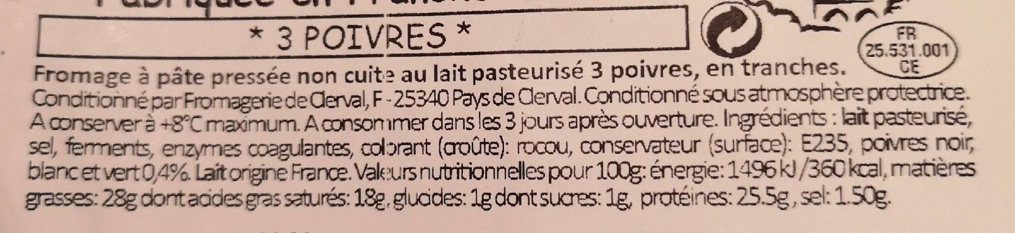 Raclette - Ingrédients - fr