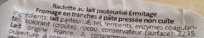 Raclette Classique - Ingrédients - fr