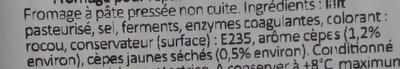 Fromage pour Raclette Cêpes en morceaux - Ingrédients