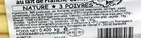 Raclette au lait de Franche-Comté Nature - 3 poivres - Informations nutritionnelles - fr